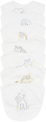 Stella McCartney Kids Baby set of 7 cotton bibs