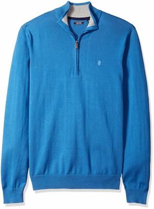 Izod Men's Premium Essentials Quarter Zip Solid 12 Gauge Sweater