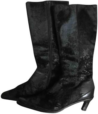 Vic Matié Black Pony-style calfskin Boots