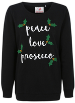 George Peace Love Prosecco Christmas Sweatshirt