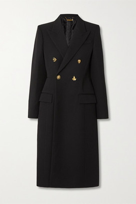 Givenchy Double-breasted Wool-twill Coat - Black