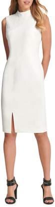 DKNY Mockneck Sheath Dress