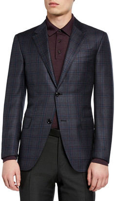Ermenegildo Zegna Men's Plaid Wool Sport Jacket