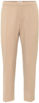 Chloé Cropped stretch-wool pants