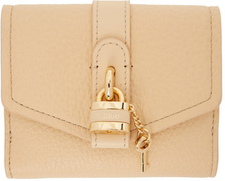 Chloé Beige Aby Square Wallet
