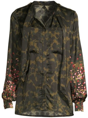 Mother of Pearl Leandra Printed Tieneck Blouse