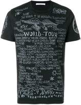 Givenchy World Tour print T-shirt