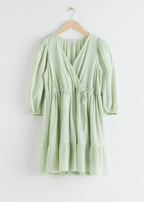 And other stories Voluminous Gathered Mini Dress
