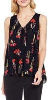 Vince Camuto Women's Botanical Print Sleeveless Blouse