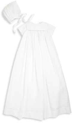 Isabel Garreton Baby's Traditional Silk Christening Gown with Bonnet