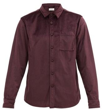 Saturdays NYC Perry Velvet Shirt - Mens - Purple