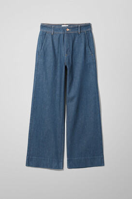 Weekday Cory Denim Trousers Soaked - Blue