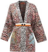Missoni Belted Jacquard-knit Cardigan - Womens - White Multi