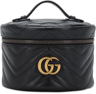 Gucci Gg Marmont Leather Beauty Bag