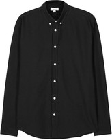 Soulland Goldsmith Black Cotton Oxford Shirt