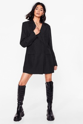 Nasty Gal Womens Let's Check It On Mini Blazer Dress - Black - 4