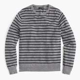 J.Crew Rugged cotton crewneck sweater in pewter stripe