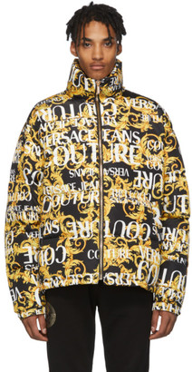 Versace Gold and Black Baroque All Over Jacket