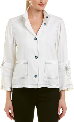 Tahari by Arthur S. Levine Tahari Asl Linen-Blend Suit Jacket