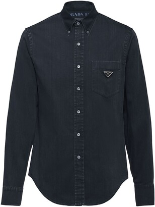 Prada chest pocket denim shirt