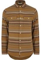 River Island Mens Camel aztec striped shirt