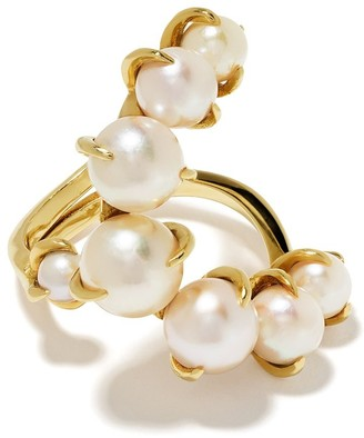 Ana Khouri 18kt yellow gold Time pearl ring