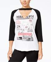 Freeze 24-7 7 Freeze Juniors' Marilyn Graphic Raglan Top