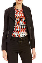 Calvin Klein Luxe Stretch Suiting Zip Pocket Wing Collar Jacket