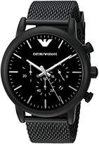 Emporio Armani Men's AR1968 Dress Black Quartz Watch