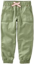 Osh Kosh Twill Woven Pants - Green - 4