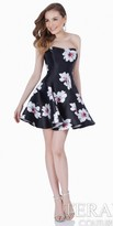 Terani Couture Modern Floral Fit and Flare Homecoming Dress