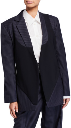 Nina Ricci Pinstriped Vest-Detailed Blazer