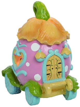 Transpac Resin Large Blue Easter Light Up Egg House