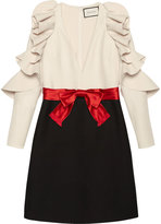 Gucci Silk wool dress with sculpted sleeves