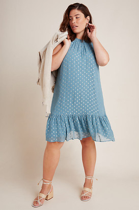 Anthropologie Natalie Flounced Tunic By in Blue Size 2 X