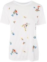 Topshop Embellished Floral T-Shirt
