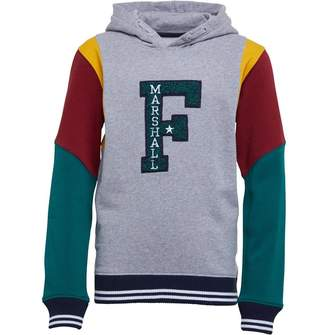 Franklin & Marshall Junior Boys Varsity Colour Block Hoodie Vintage Grey Heather