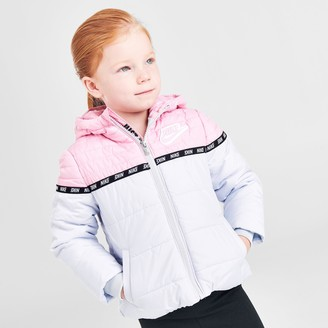 Nike Girls' Toddler Sportswear Taped Colorblock Puffer Jacket