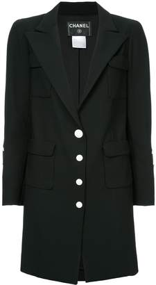 Chanel Pre-Owned peaked lapels midi jacket