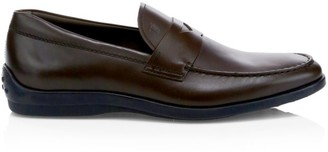 Tod's Pizzico Fondo Leather Loafers