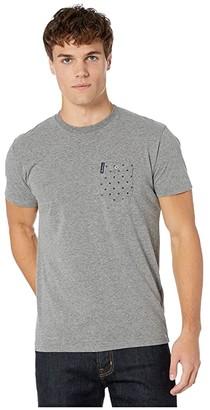 Ben Sherman Pocket Dot Stripe Print Style Tee (Grey) Men's Clothing