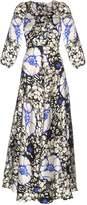 DURO OLOWU Zanzibar Flower print silk-satin dress