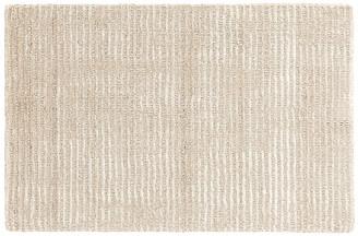 Dash & Albert Cut Stripe Hand-Knotted Rug - Ivory 2'x3'