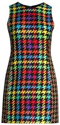 Alice + Olivia Coley Multicolor Houndstooth Dress
