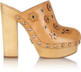 Michael Kors Prim appliquéd leather platform clogs