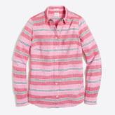 J.Crew Factory Striped linen-cotton shirt