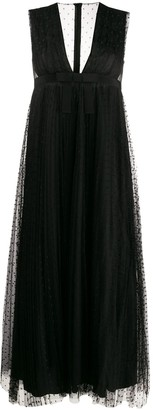 RED Valentino tulle flared mid-length dress