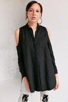 Silence & Noise Silence + Noise Ciara Cold Shoulder Button-Down Shirt
