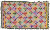 Karma Living Green & Purple Folkloric Embroidery Throw Pillow