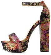Charlotte Russe Brocade Two-Piece Platform Sandals